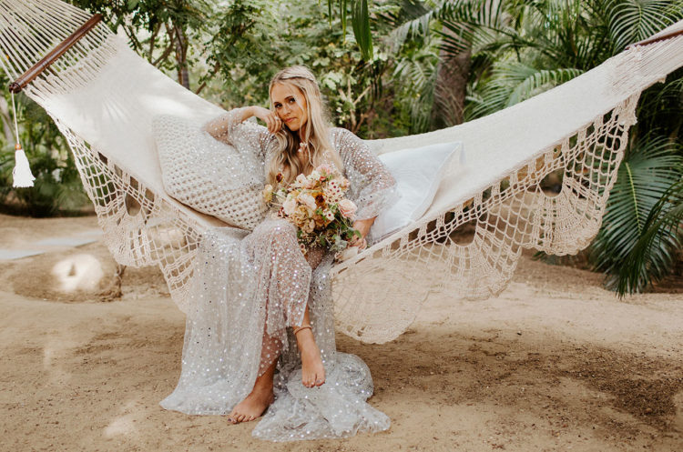 Hammocks are a great idea for a boho wedding venue, your guests and you will be relaxed