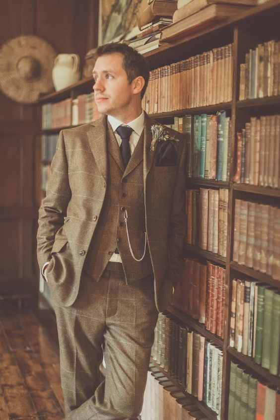 a cool vintage groom's outfit