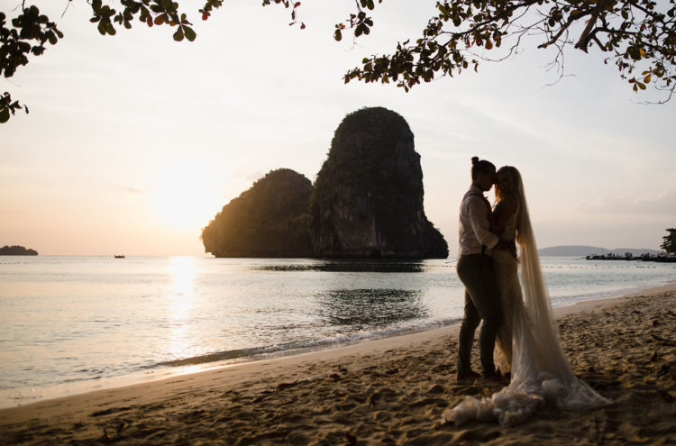 Thai nature is an amazing backdrop for wedding portraits