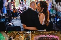 09 The couple invited a gorgeous live band to let everyone have fun to the night