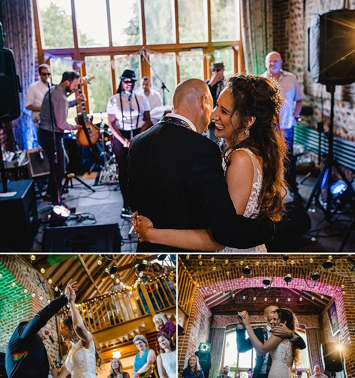 The couple invited a gorgeous live band to let everyone have fun to the night