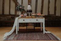 a cute wedding dessert table decor
