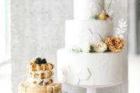 a gorgeous wedding dessert table