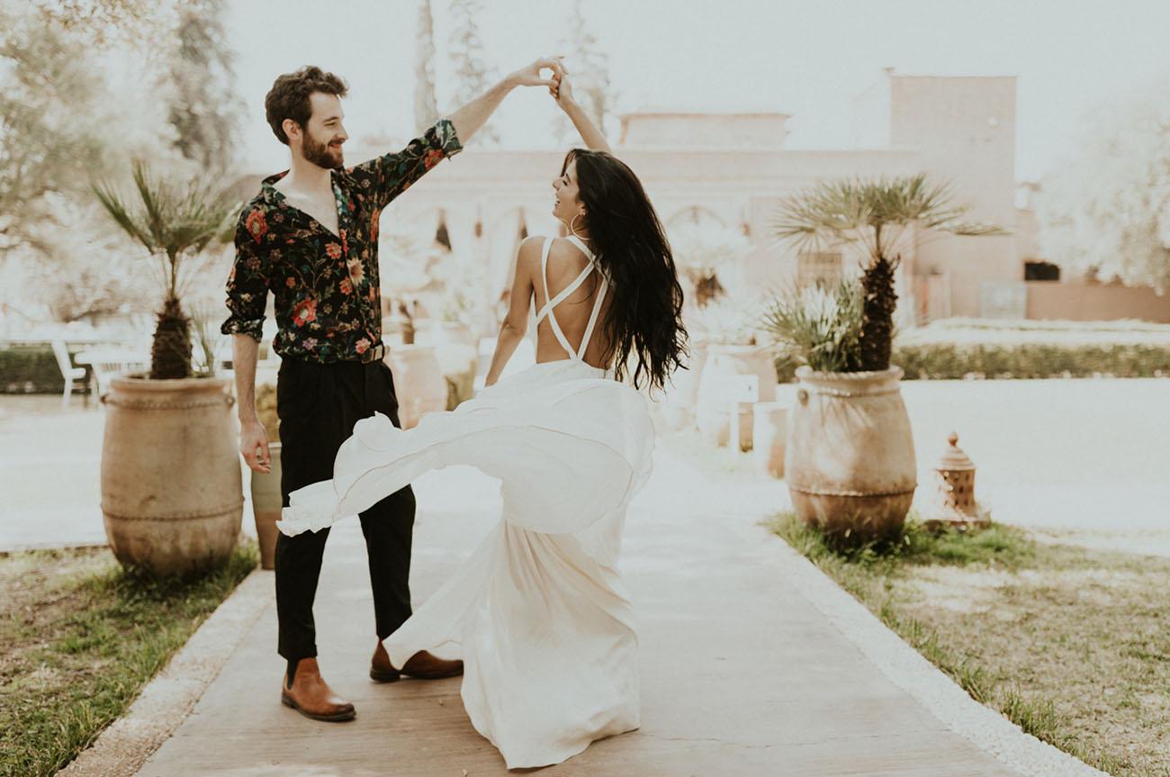 Morocco is a great destination wedding spot, especially if it's a boho wedding