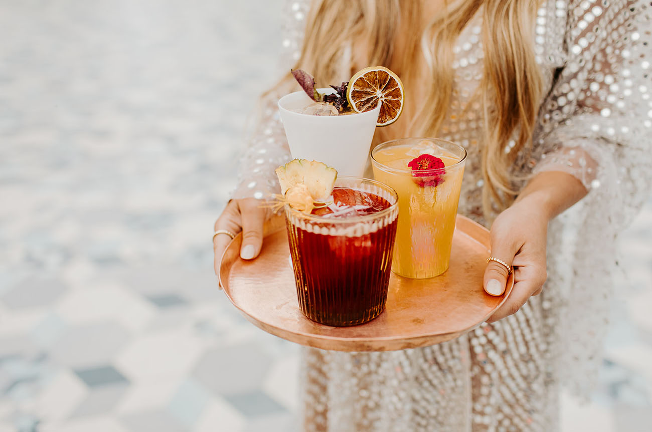 Some refreshing cocktails were mixed right for the wedding shoot