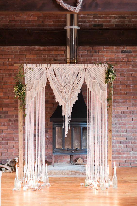 a gorgeous boho chic wedding arch