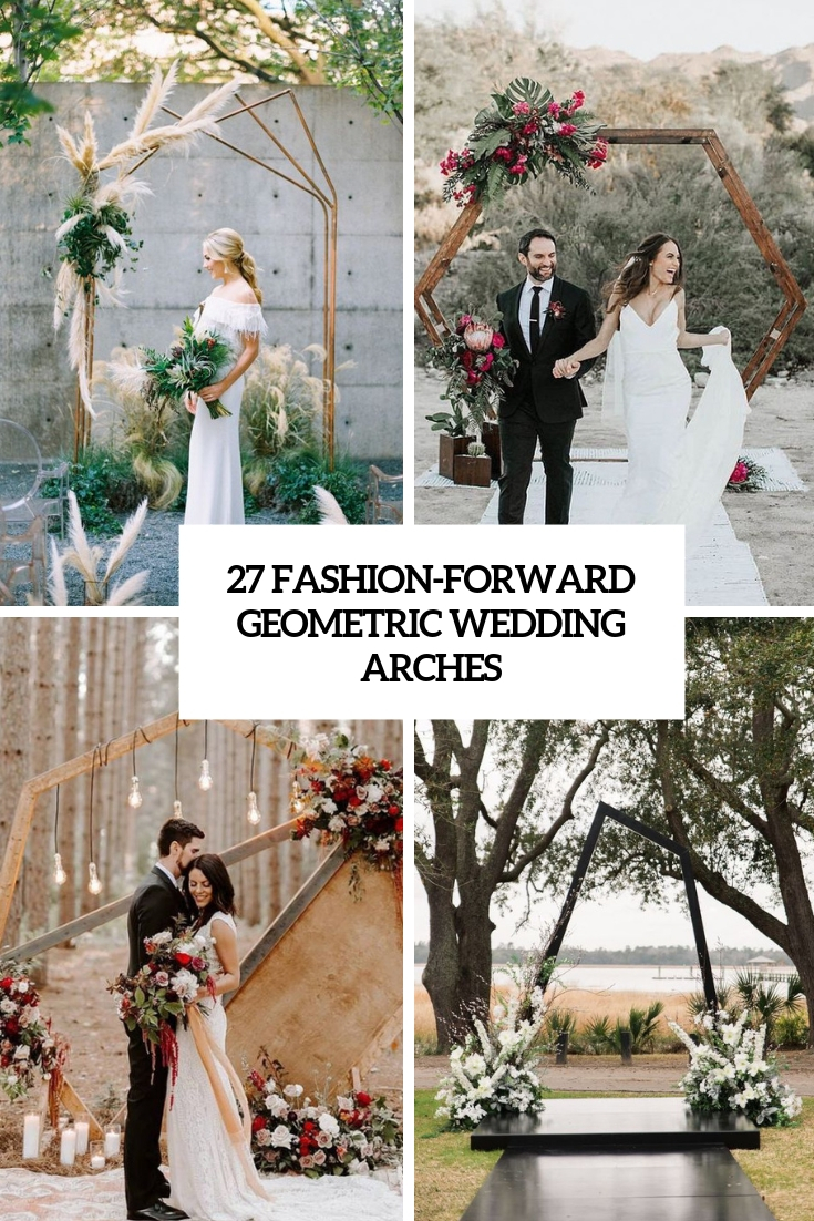 fashion forward geometric wedding arches cover