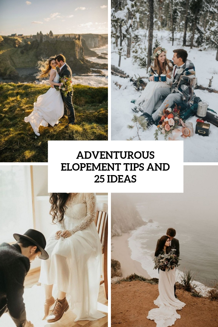 adventurous elopement tips and 25 ideas cover