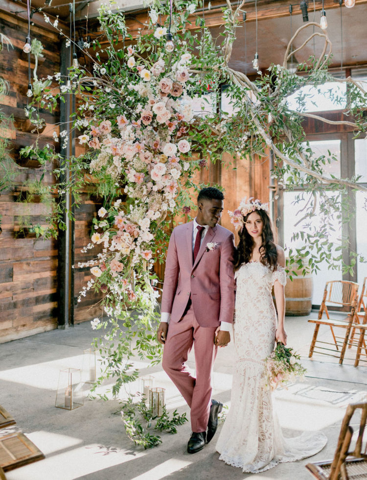 This jaw dropping wedding shoot shows how to completely change any venue in what you want and some examples of boho chic outfits