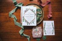 botanical wedding stationary