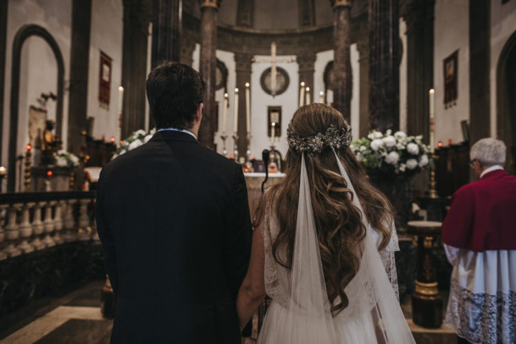 The ceremony took place in a refined church