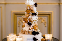 11 A wedding cake was substituted with a croquembouche to embrace the location