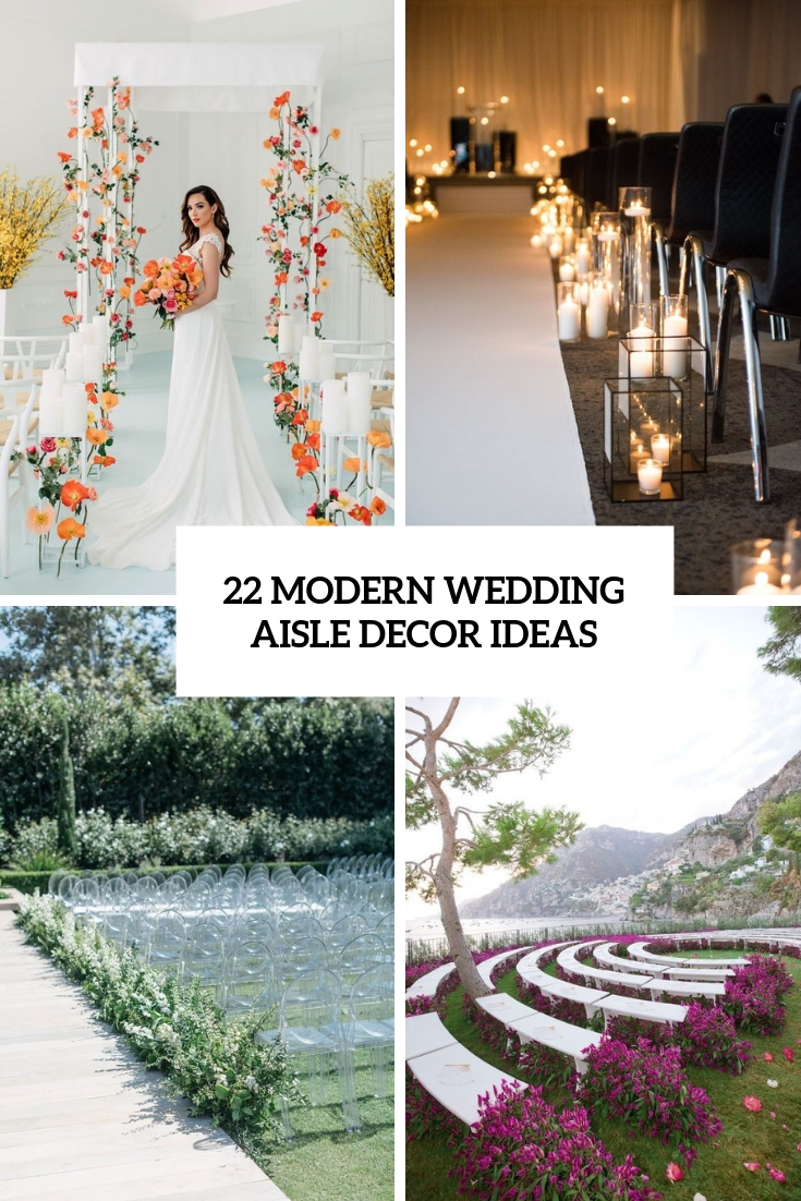 Picture Of modern wedding aisle decor ideas cover