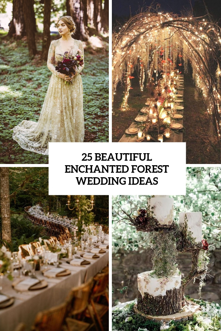 beautiful enchanted forest wedding ideas cover