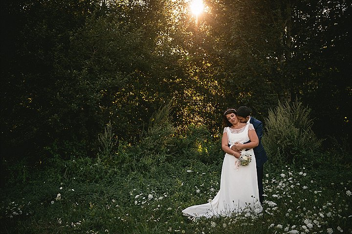 This couple went for a relaxed summer rustic wedding in France where they live