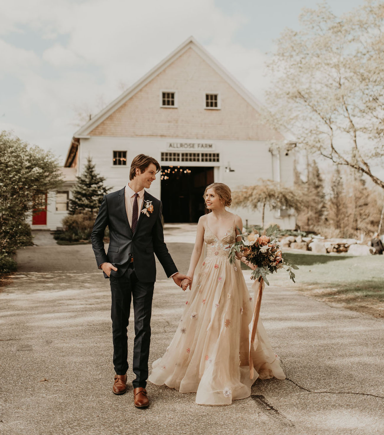 This wedding shoot was super romantic, moody and chic, with botanical and floral touches