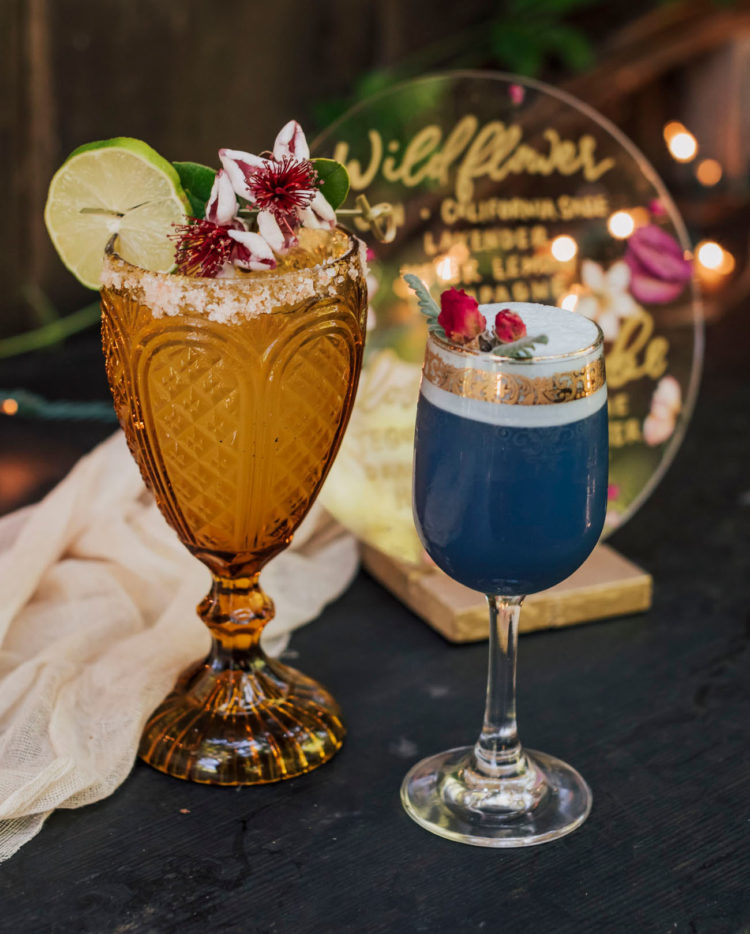 Amazing tropical drinks were mixed right for the wedding shoot