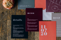 06 The wedding stationery was done in brights, black and grey, with a mid-century modern feel