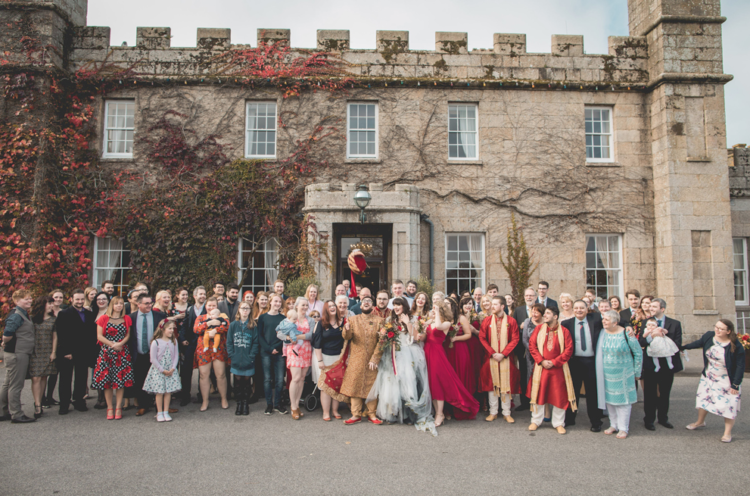 The wedding took place at a castle to fit the bride's love to stories and fantasy books
