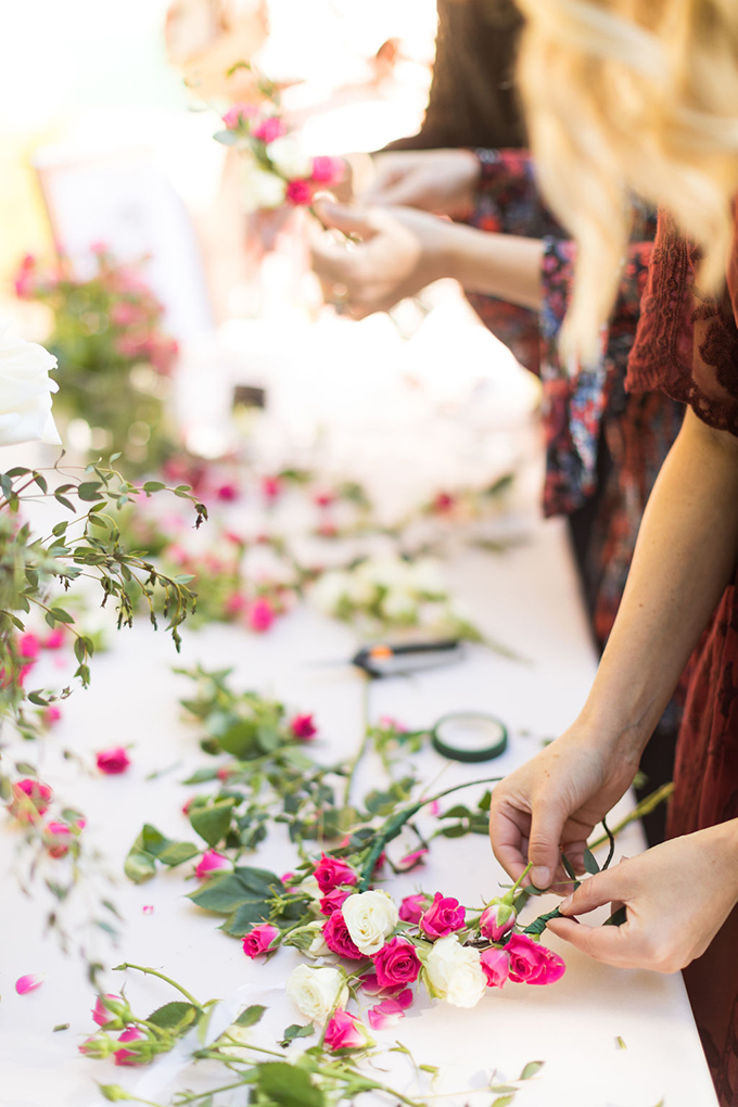 There was a flower crown bar where every girl could find out how to make her own floral crown