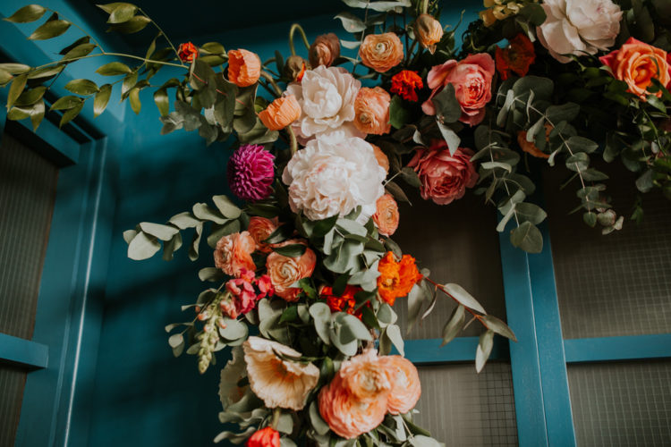 The wedding florals were bright, lush, lively and juicy, the stylists created amazing combos