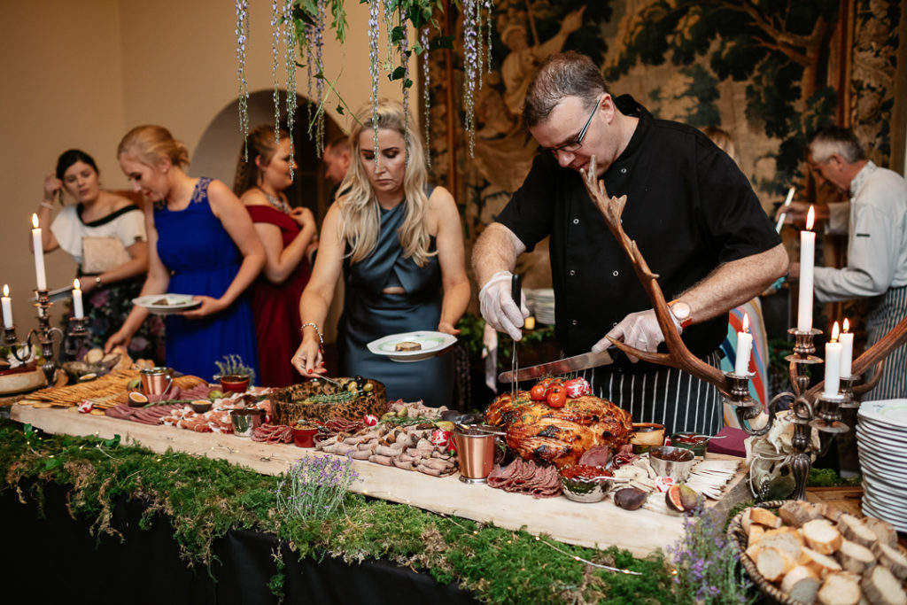 There was an amazing charcuterie table styled as a medieval feast