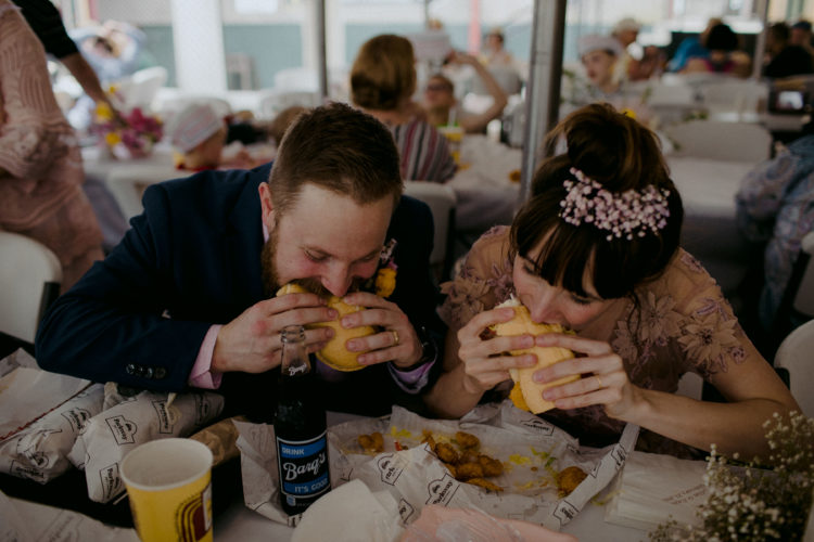 The couple loves fast food, so they went for it