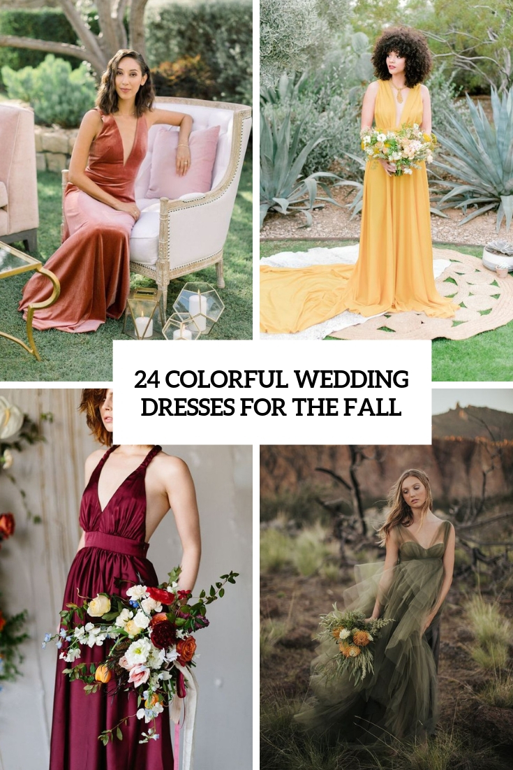24 Colorful Wedding Dresses For The Fall