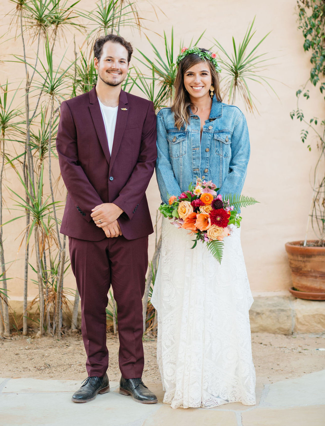 This couple was serious about fun and colors at their wedding, and they put as much of their personalities into the wedding as possible