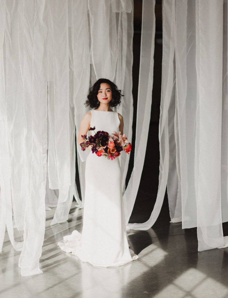 Fine Art Bridal Shoot With Cement And Terrazzo Accents