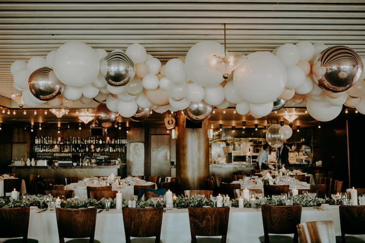 Unique Modern Wedding With A Giant Balloon Decoration