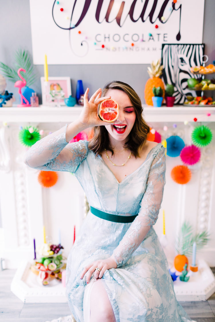 Fun And Colorful Feminine Bridal Shoot