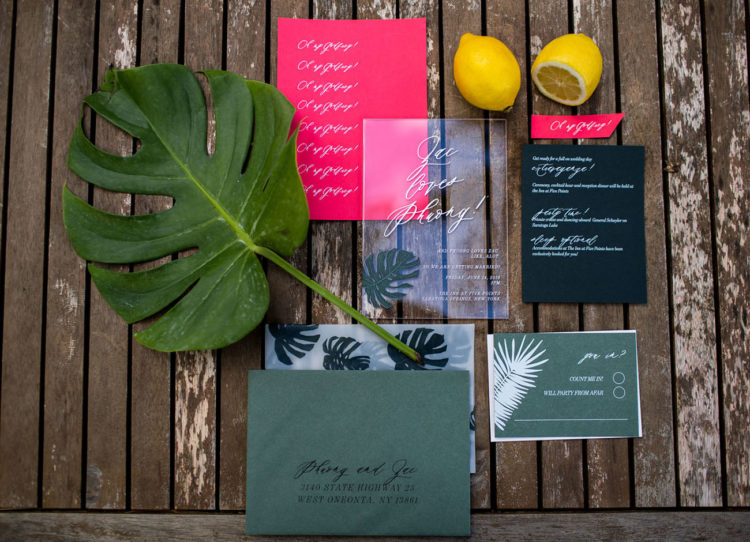Holly Winnie Calligraphy created a fun invitation that matched Phuong and Zac's personalities and attitudes toward the day, cute and informal