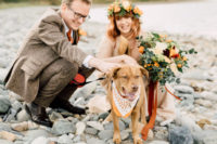 05 The couple's dog took part in the wedding