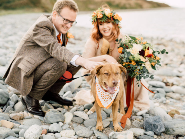 The couple's dog took part in the wedding