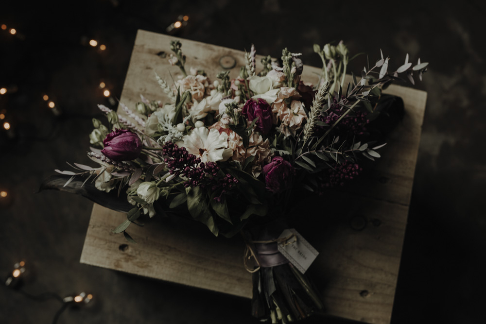 The wedding bouquet was done with plenty of texture, white, fuchsia and blush blooms