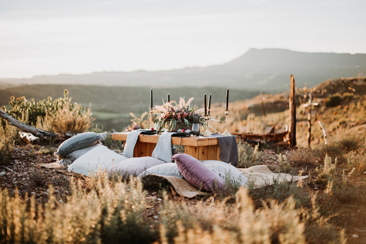 There was a cute picnic setting styled just for two