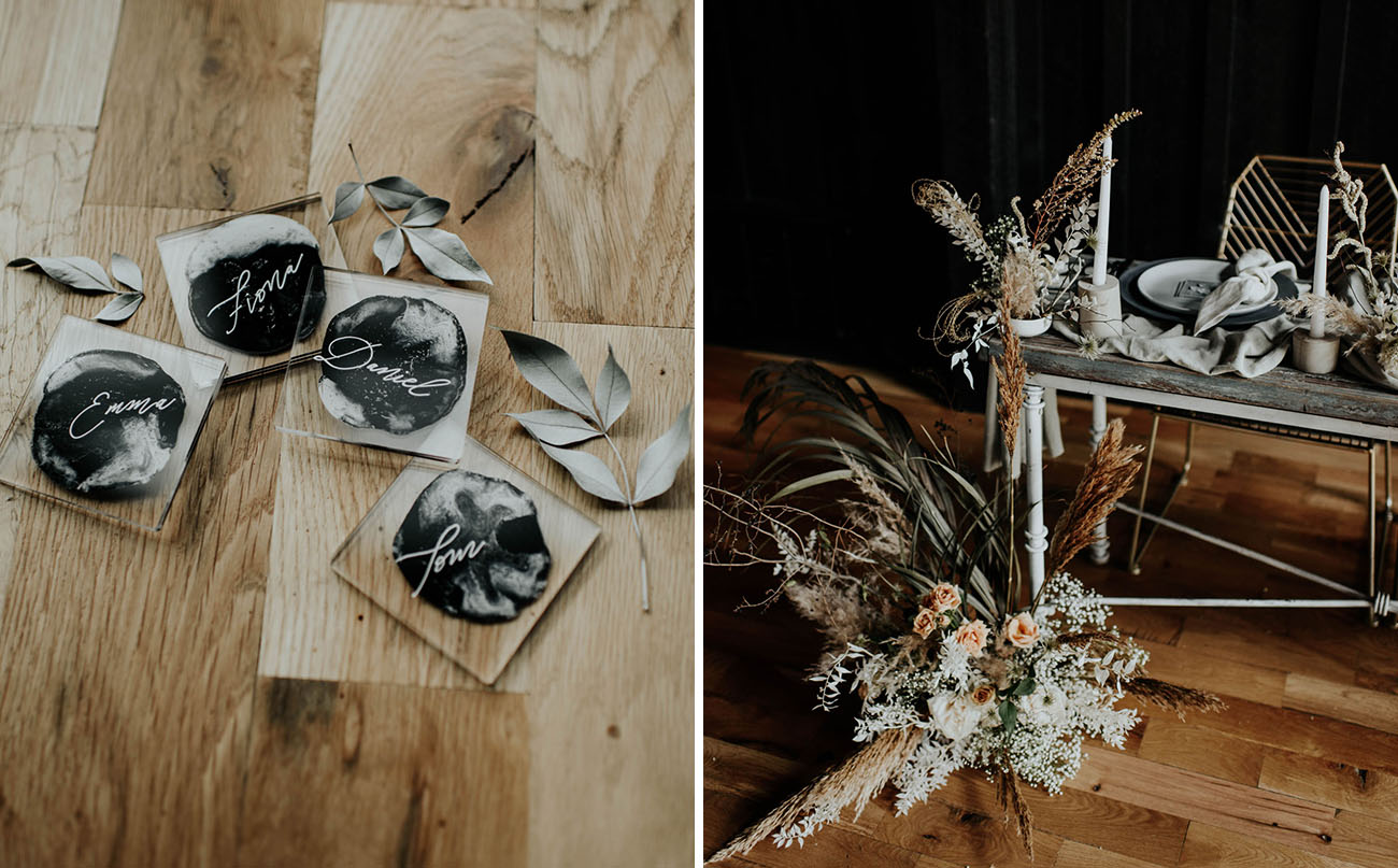 acryl wedding place cards adds a modern touch to table's decor