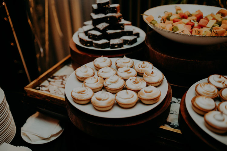 The couple skipped the wedding cake but opted for lots of delicious desserts