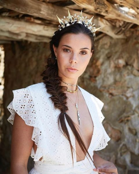 a bold sparkling and embellished crown will glam up any bridal look, from boho to minimalist