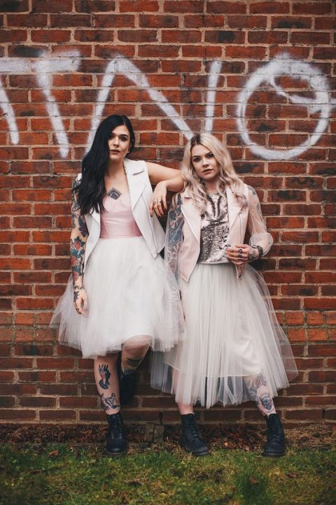 amazing badass brides in tutu skirts, waistcoats and different tops plus black leather boots