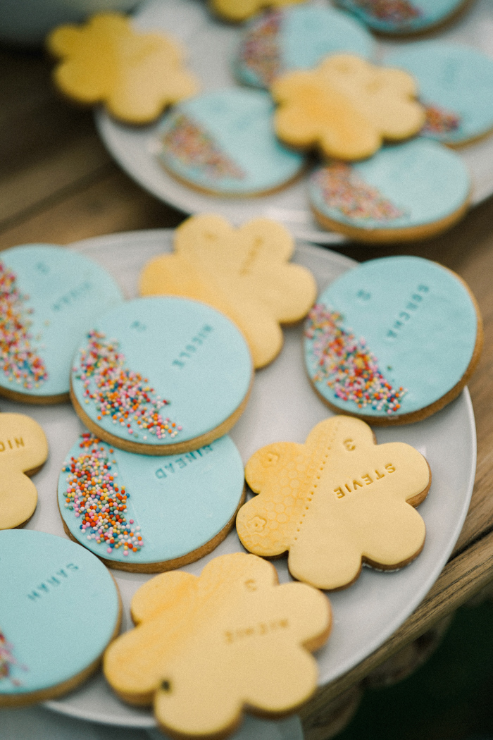 The cookies and desserts reflected the location choice and what the couple loves