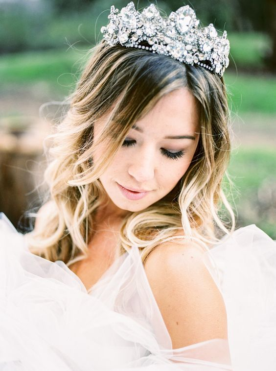 a fantastic crystal bridal crown will make you a real queen on your wedding day