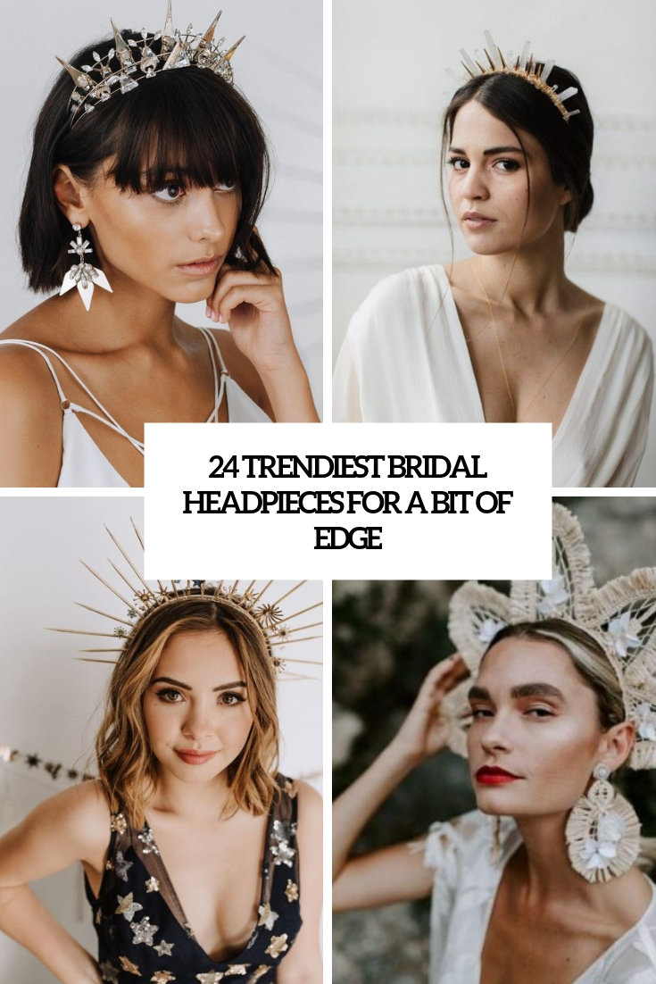 trendiest bridal headpieces for a bit of edge cover