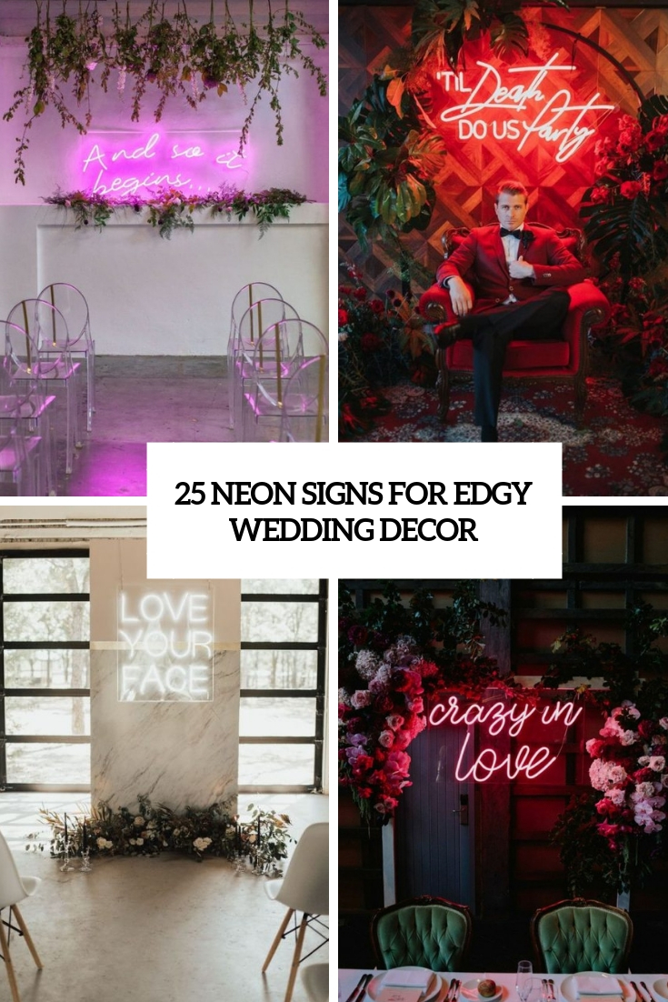 neon signs for edgy wedding decor cover