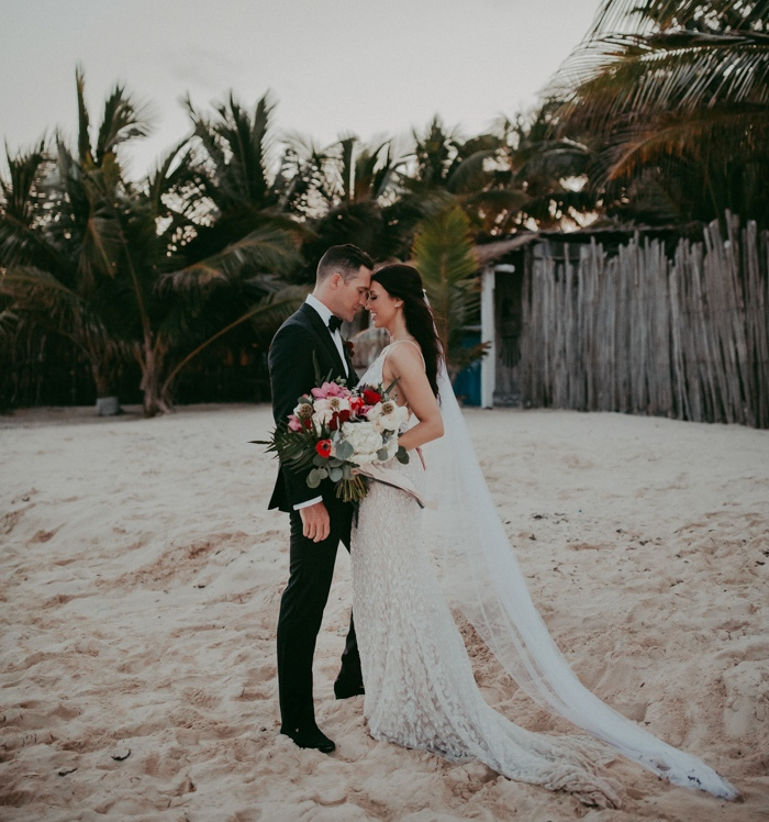 Tropical Opulence Beach Club Wedding