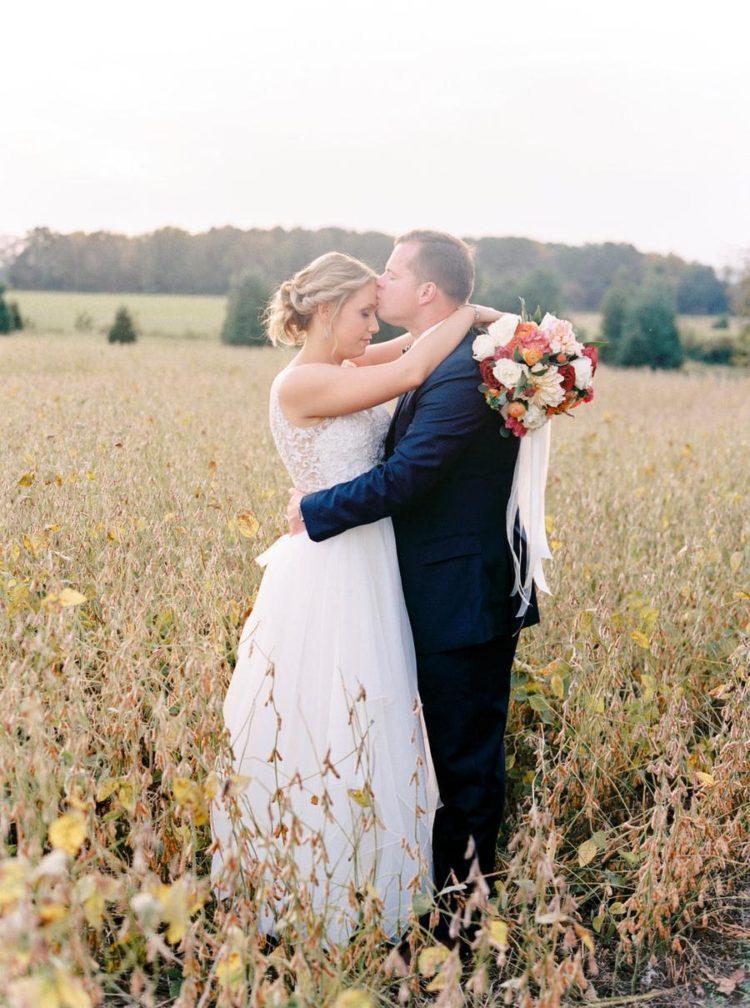 Elegant And Colorful Farm Wedding