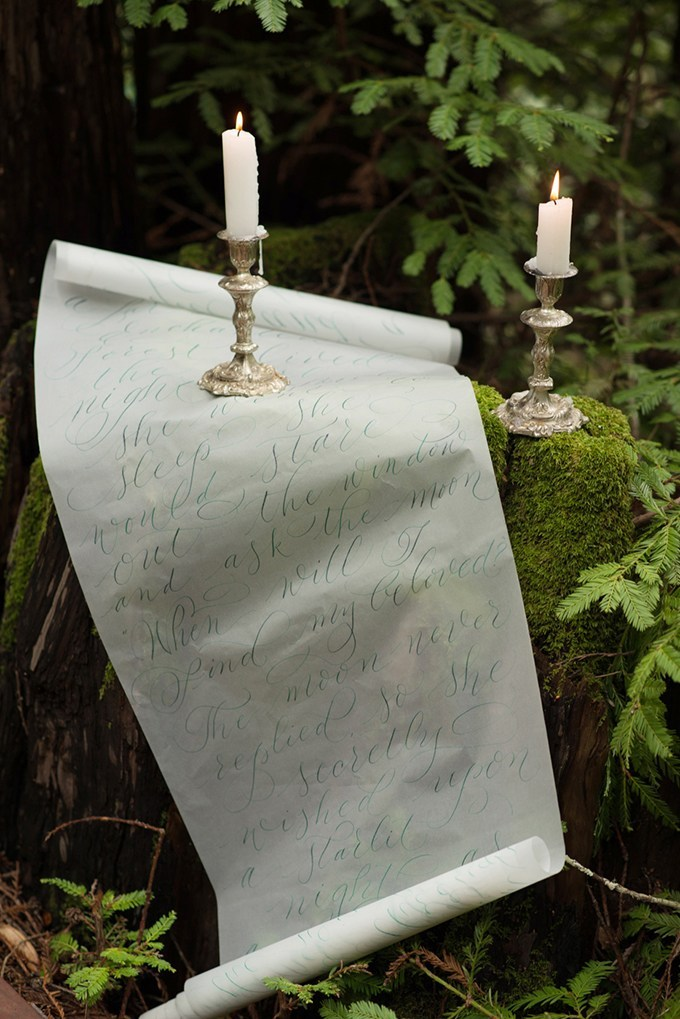 Such a decoration can be used a table runner or to decorate the ceremony space