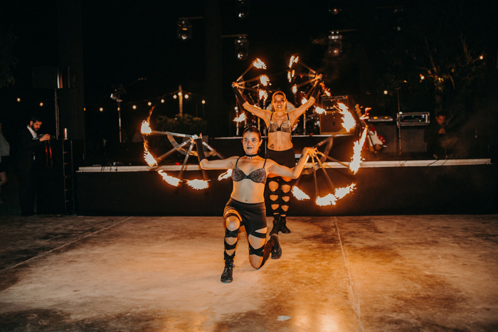 The fire dancers were a real entertainment and fun for the guests