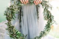16 a strapless embellished and embroidered grey wedding dress is a unique idea for a bride